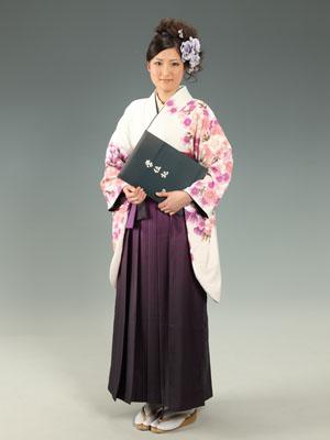 秋田の卒業写真 スタジオ撮影 大学卒業 小袖 マミコさん
