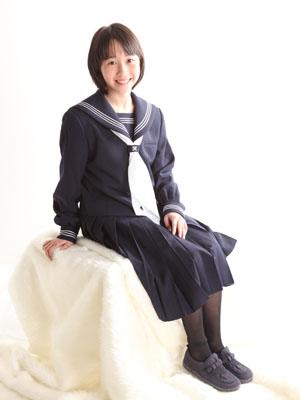 秋田の入学写真 スタジオ撮影 中学入学2