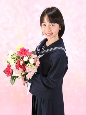 秋田の入学写真 スタジオ撮影 中学入学