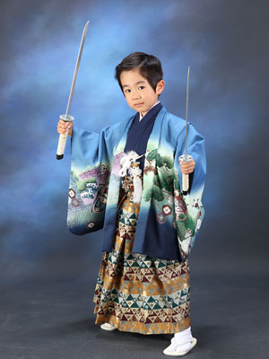 秋田の七五三 スタジオ撮影 5歳 ダイゴくん