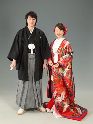 秋田のブライダルフォト スタジオ撮影 写真だけの結婚式 ユウタ&キョウコさん1