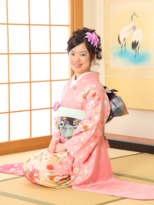 秋田の成人式 スタジオ撮影 振袖 前撮り フミカさん