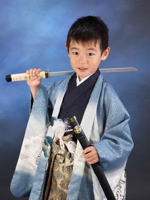 秋田の七五三 スタジオ撮影 5歳 ソウタくん