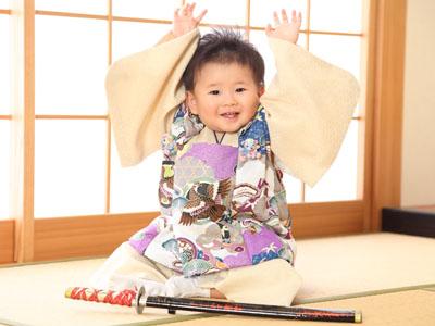 秋田のベビーフォト スタジオ撮影 1歳バースデー ソウタくん