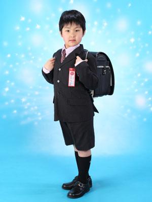 秋田の入学写真 スタジオ撮影 小学入学 1年生