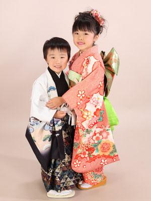 秋田の七五三 スタジオ撮影 5・7歳 ハルキくん&ナナミちゃん