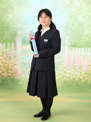 秋田の卒業式 スタジオ撮影 中学卒業 制服 ユミさん