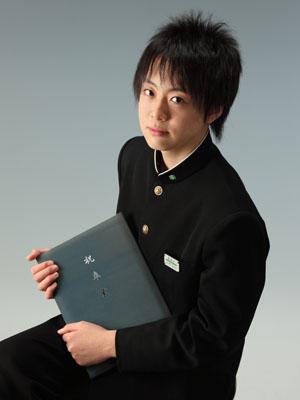秋田の卒業式 スタジオ撮影 中学卒業 制服 タクトくん