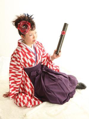 秋田の卒業式 スタジオ撮影 大学卒業 卒業小袖 モエさん