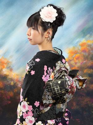 秋田の成人式 スタジオ撮影 振袖 写真だけの成人式