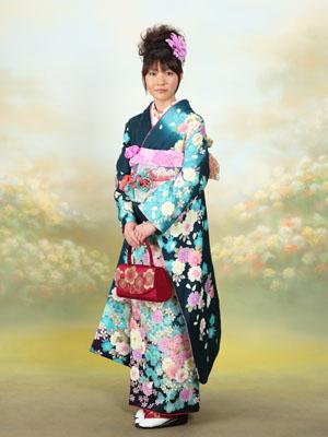 秋田の成人式 スタジオ撮影 振袖 ナナさん