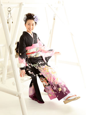 秋田の成人式 スタジオ撮影 前撮り 振袖 ツグミさん