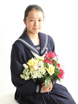 秋田の入学写真 スタジオ撮影 中学入学 ミレイさん