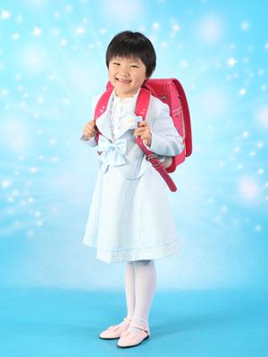 秋田の入学写真 スタジオ撮影 小学入学 サキちゃん