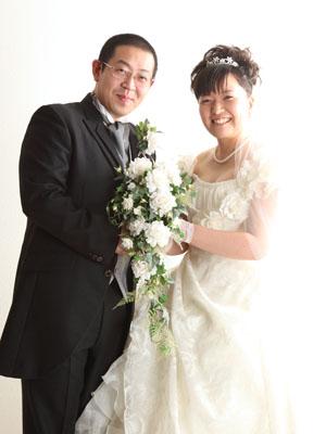 秋田のブライダルフォト スタジオ撮影 写真だけの結婚式 メグロさま