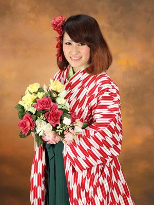 秋田の卒業式 スタジオ撮影 大学卒業 ハルナさん