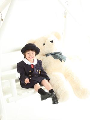 秋田の入園写真 スタジオ撮影 幼稚園入園 カトリック幼稚園 フウトくん