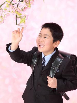 秋田の入学写真 スタジオ撮影 小学入学 リピーター タクミくん