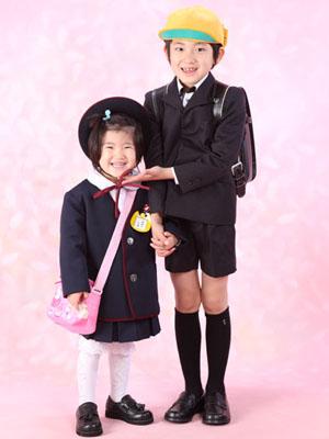 秋田の入学写真 スタジオ撮影 入園・小学入学 ガクト&リオ
