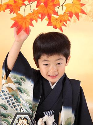 秋田の七五三 スタジオ撮影 5歳 ケイトくん