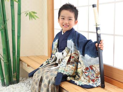 秋田の七五三 スタジオ撮影 5歳 ユイトくん