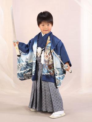 秋田の七五三 スタジオ撮影 5歳 アヤトくん