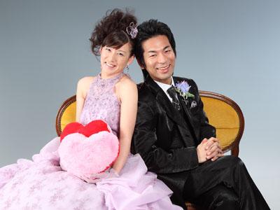 秋田のブライダルフォト スタジオ撮影 写真だけの結婚式 2ドレスプラン