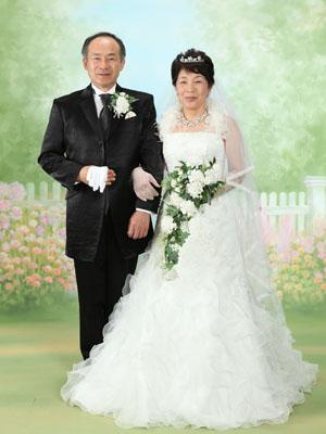 秋田のブライダルフォト スタジオ撮影 写真だけの結婚式 還暦祝い