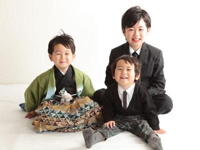 秋田の七五三 スタジオ撮影 5歳 トオムくん