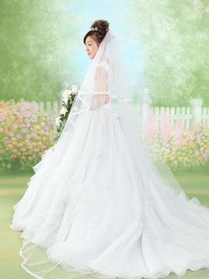 秋田のブライダルフォト スタジオ撮影 写真だけの結婚式 赤ちゃんと一緒2