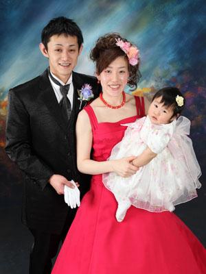 秋田のブライダルフォト スタジオ撮影 写真だけの結婚式 赤ちゃんと一緒