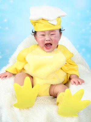 秋田のベビーフォト スタジオ撮影 1歳 ヒヨコ