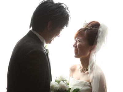 秋田のブライダルフォト スタジオ撮影 写真だけの結婚式 シルエット