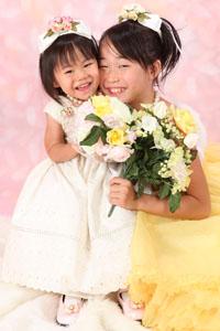 秋田の七五三 スタジオ撮影 3歳 前撮りドレスアップ