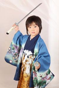 秋田の七五三 スタジオ撮影 5歳 サムライ