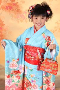 秋田の七五三 スタジオ撮影 7歳 サナちゃん
