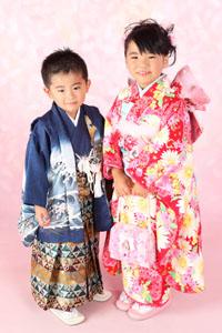 秋田の七五三 スタジオ撮影 5歳7歳 リョウタくんユイちゃん