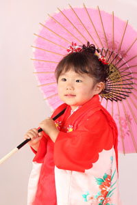 秋田の七五三 スタジオ撮影 3歳 リコちゃん