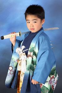 秋田の七五三 スタジオ撮影 5歳 ゼンくん