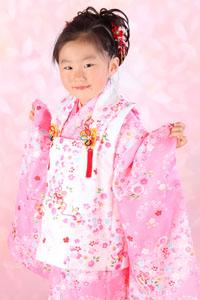 秋田の七五三 スタジオ撮影 5歳 スミレちゃん