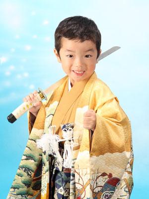 秋田の七五三 スタジオ撮影 5・7歳 兄弟 リクくんアヤメちゃん2