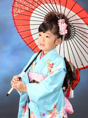 秋田の七五三 スタジオ撮影 5・7歳 兄弟 リクくんアヤメちゃん1