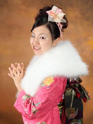 秋田の成人式 スタジオ撮影 振袖撮影 前撮り ワカナさん