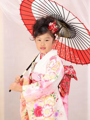 秋田の七五三 スタジオ撮影 7歳 マオちゃん