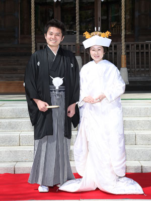 秋田のブライダルフォト ロケーション撮影 神前式2
