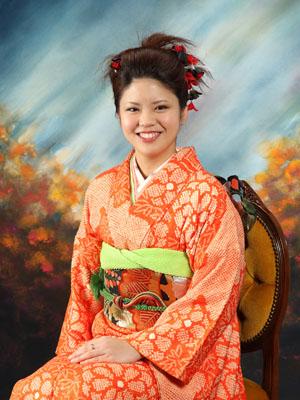 秋田の成人式 スタジオ撮影 振袖 サキコさん