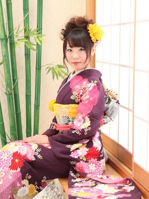 秋田の成人式 スタジオ撮影 振袖 前撮り ナルミさん