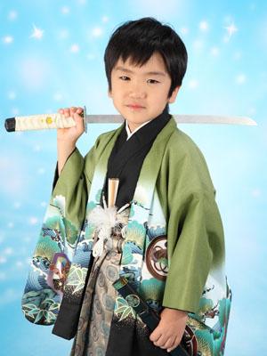 秋田の七五三 スタジオ撮影 5歳 リピーター タケルくん