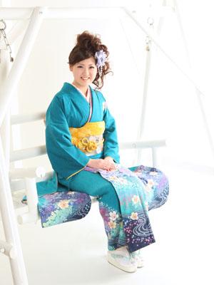 秋田の成人式 スタジオ撮影 振袖 前撮り アヤさん