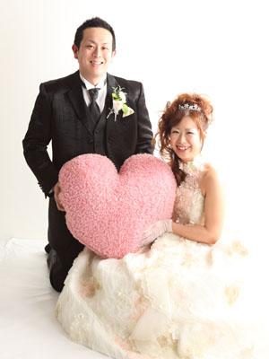 秋田のブライダルフォト スタジオ撮影 写真だけの結婚式 カズヨシさん&チエミさん